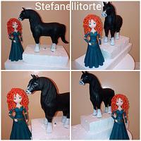 Brave Merida cake topper