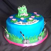 Baby Frog Cake  (its a girl)