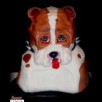 Bull dog cake