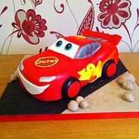 Lightning McQueen Cars Cake