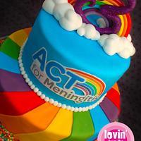 Rainbow Charity Cake
