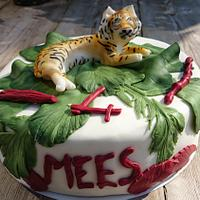 Birthday tiger cake