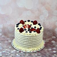 Rustic berry cake