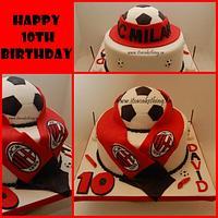 AC Milan Soccer Fan Cake