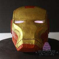 Solid Modeling Chocolate Iron Man with LED eyes