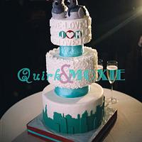 New York Themed Wedding and Groom's Cakes