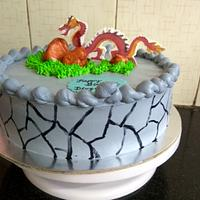 Red Dragon Theme Cake