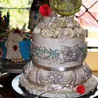Jewelled Wedding Cake