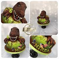 T rex cake