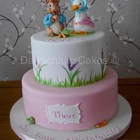 Beatrix Potter christening cake