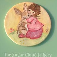 Belle & Boo hand painted cookie