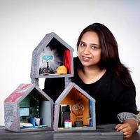 Cakerbuddies miniature dollhouse collab - Techno Den by TheCakeTalk