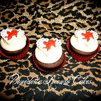 Vintage Style Cupid Valentine Cupcake Toppers by Benni Rienzo Radic