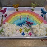 Rainbow Pull Apart Cupcakes Cake