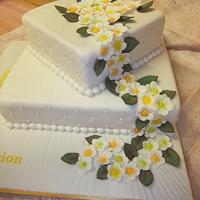 60th Birthday Cake with Trailing Flowers