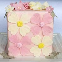 Floral Pastel Cake by miettes