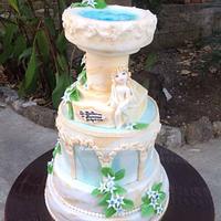 Torta fonte battesimale