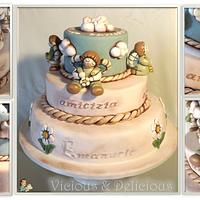 Emanuele Christening cake by Sara Solimes Party solutions