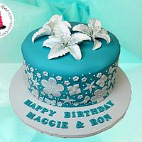 Gumpaste Lily Cake