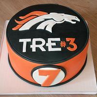 """stallions"" football team themed birthday cake by Dani Johnson"