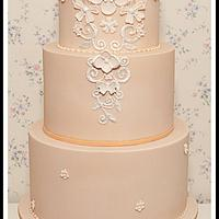 Peach Wedding Cake - Inspired by Temperley London