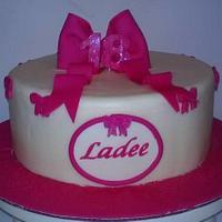Pink Bows Cake