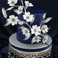 New Years inspired dogwood cake