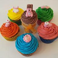 Colourful Baby Shower Cupcakes