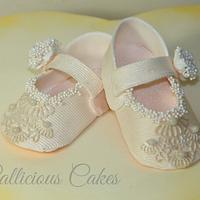 First girlie baby shoes