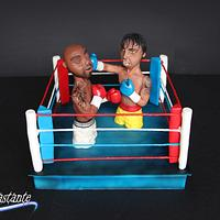 Boxing - sport Cake for Peace collaboration.