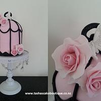 Pink Birdcage Cake