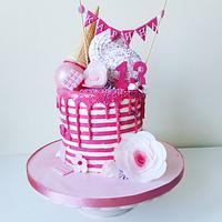 Pink decor cake