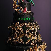 Emerald Jewelry Inspired Wedding Cake