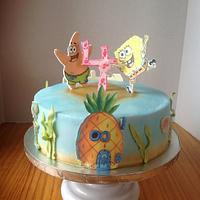 Sponge bob 2-D cake