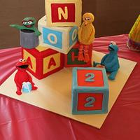 Sesame street cake for Noah's 2nd birthday