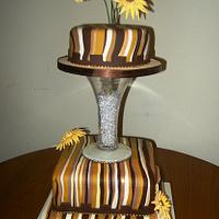 Sun Flower Wedding cake