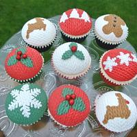 Knitted Effect Cupcakes