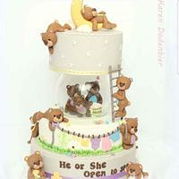 Fondant Cake Toppers Gender Reveal Collaboration