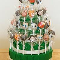 Zoo Animal Cake Pop Display