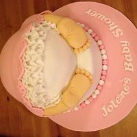 Pink Baby shower cake by Karen Richardson