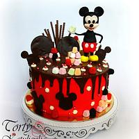 Mickey Mouse Drip Cake
