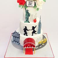 New York 50th Anniversary Cake