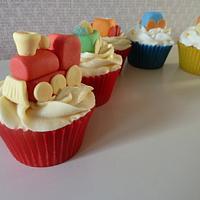 Choo Choo Train Cupcakes