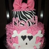 Pink, Skulls and Zebra Print