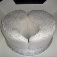 angel wings birthday cake