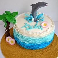 Dolphin Ombre Cake