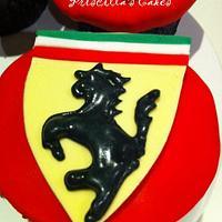 Ferrari themed cupcakes