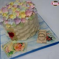Vintage Flower Basket with edible Seed Packets