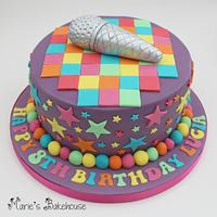Disco and Singing Themed Cake
