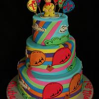 """Dr. Seuss"" Baby shower Cake"
